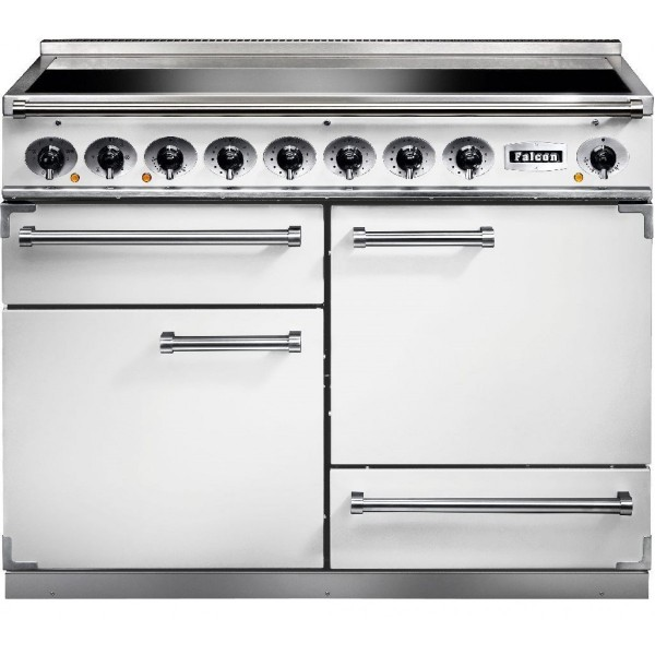 Falcon 1092 DX IND White Nickel 82440 Electric Range Cooker