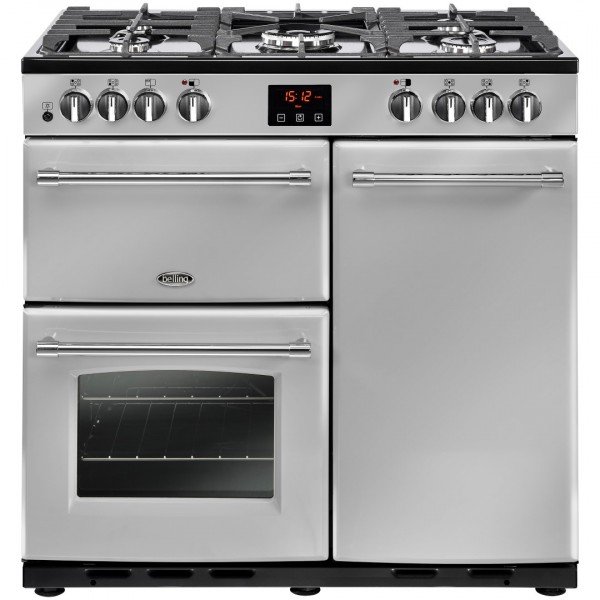 Belling Farmhouse 90Dft Sil Dual Fuel Range Cooker