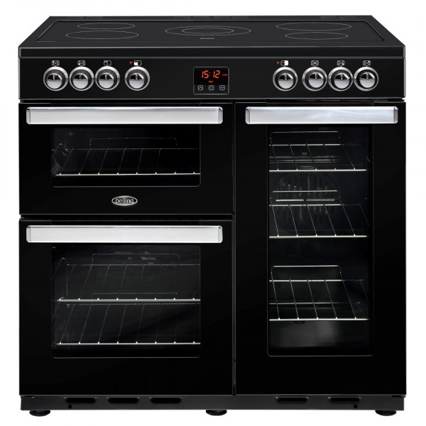Belling Cookcentre 90E Blk Electric Range Cooker