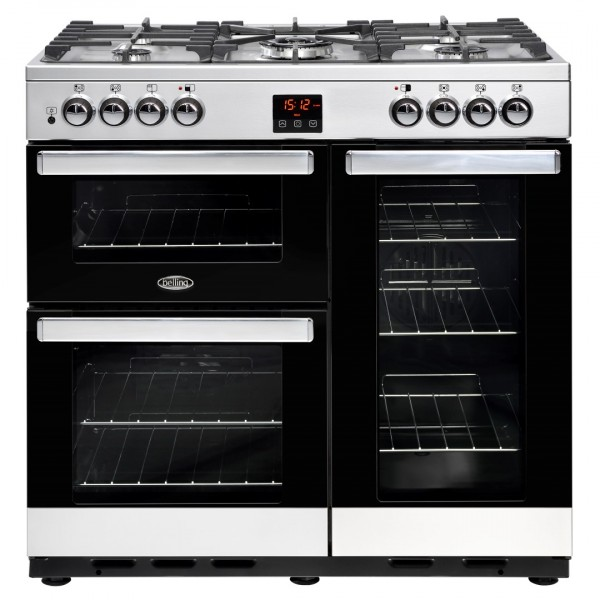 Belling Appliances Ltd Cookcentre 90Dft SS Dual Fuel Range Cooker