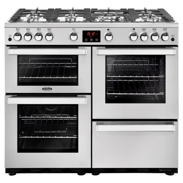 Belling Cookcentre 100G SS Professional Gas Range Cooker