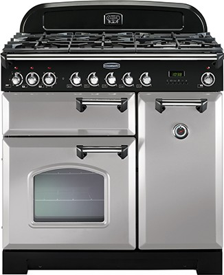 Rangemaster Classic Deluxe 90DF Royal Pearl 100600 Dual Fuel Range Cooker