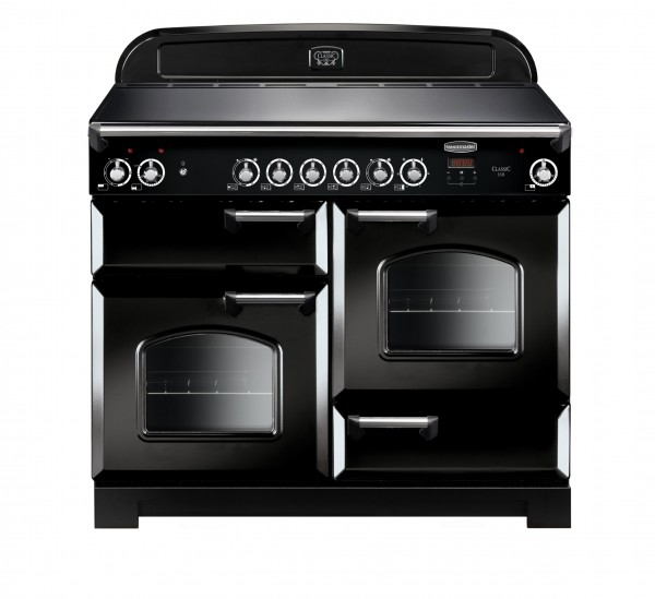 Rangemaster Classic 110CER Black Chrome 117510 Electric Range Cooker