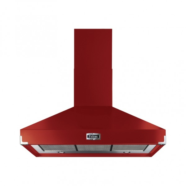 Falcon 1000 Superextract Cherry Red 101980 Cooker Hood