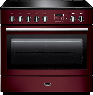 Rangemaster Professional Plus FX 90IND Cranberry 96330 Electric Range Cooker