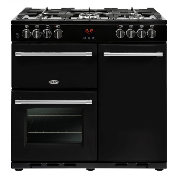 Belling Appliances Ltd Farmhouse 90Dft Blk Dual Fuel Range Cooker