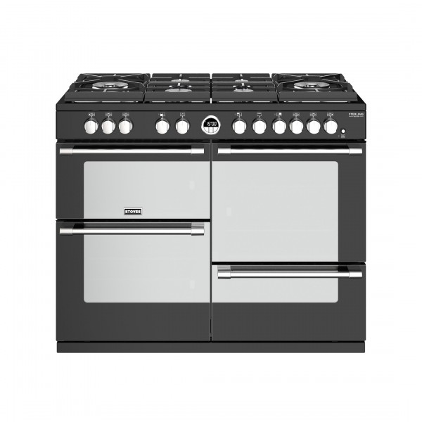 Stoves Sterling Deluxe S1100DF GTG Black Dual Fuel Range Cooker