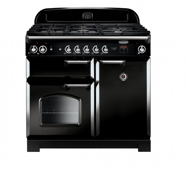 Rangemaster Classic 100DF Black Chrome 116880 Dual Fuel Range Cooker