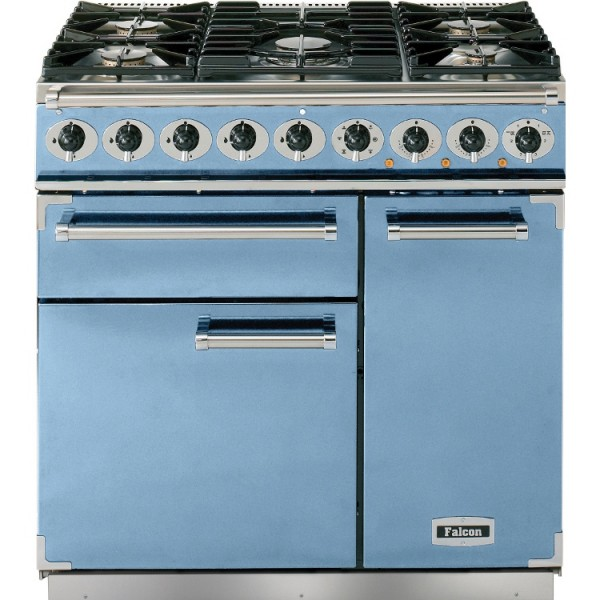 Falcon 900 DX DF China Blue Nickel 80850 Dual Fuel Range Cooker