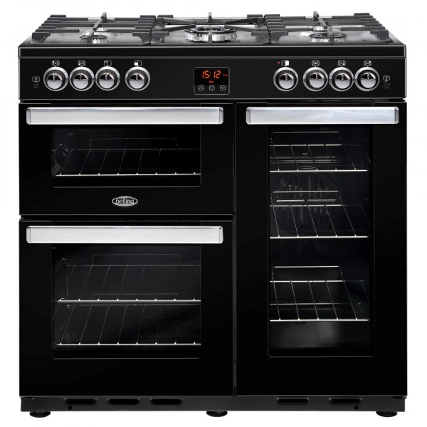 Belling Appliances Ltd Cookcentre 90G Blk Gas Range Cooker