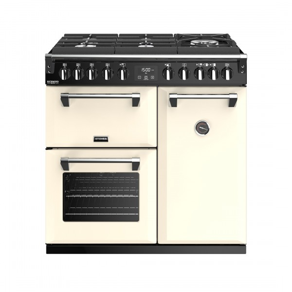 Stoves Richmond Deluxe S900DF GTG Classic Cream Dual Fuel Range Cooker
