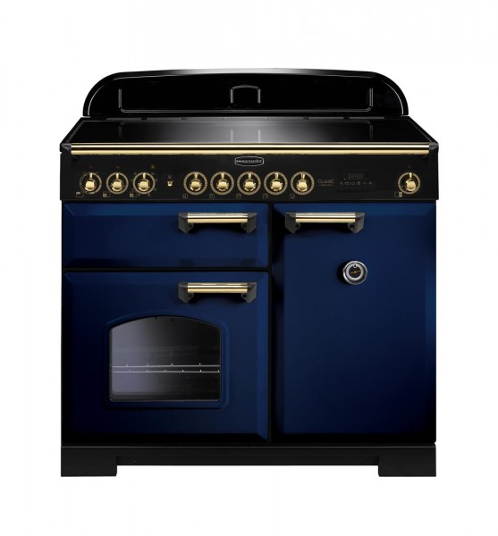 Rangemaster Classic Deluxe 100IND Blue Brass 114020 Electric Range Cooker