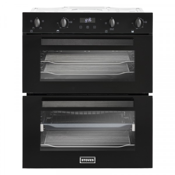 Stoves BI702MFCT Blk Double Oven Electric