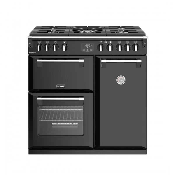 Stoves Richmond Deluxe S900G Black Gas Range Cooker