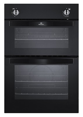 New World NW901G BLK Double Oven Gas
