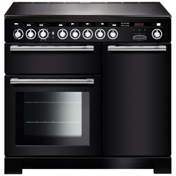 Rangemaster Encore Deluxe 100IND Black 117340 Electric Range Cooker