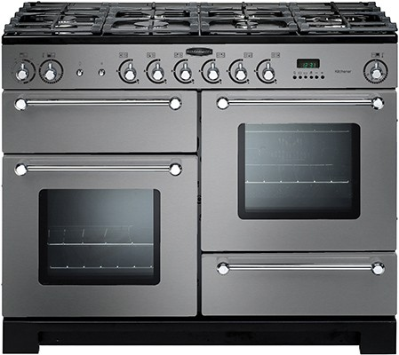 Rangemaster Kitchener 110DF SS 98830 Dual Fuel Range Cooker