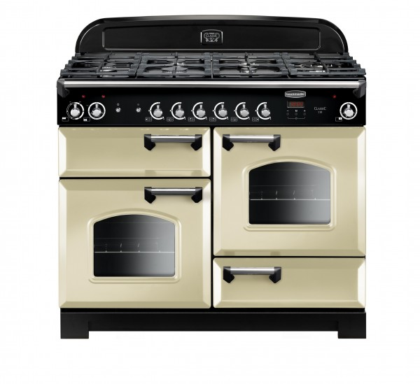 Rangemaster Classic 110DF Cream Chrome 116790 Dual Fuel Range Cooker