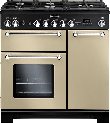 Rangemaster Kitchener 90DF Cream 81440 Dual Fuel Range Cooker