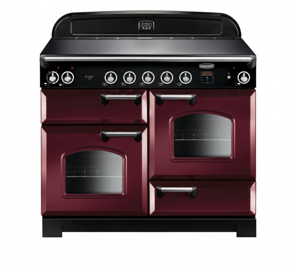 Rangemaster Classic 110IND Cranberry Chrome 117050 Electric Range Cooker