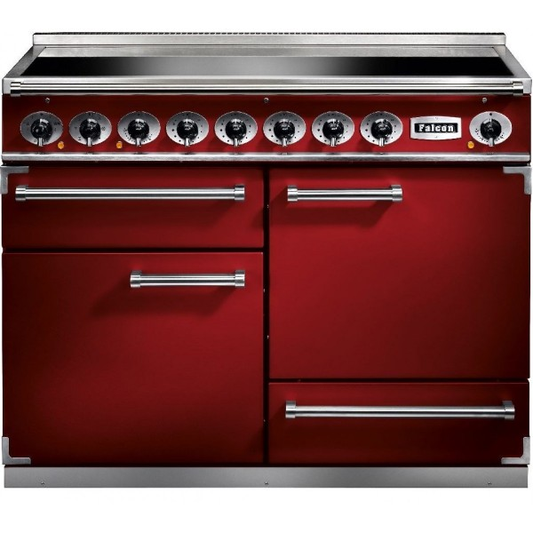Falcon 1092 DX IND Cherry Red Nickel 87060 Electric Range Cooker