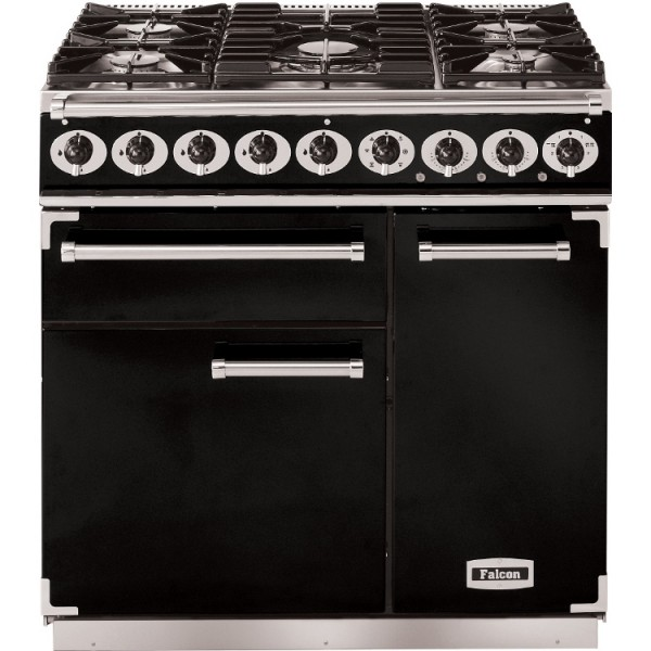 Falcon 900 DX DF Black Chrome 77060 Dual Fuel Range Cooker