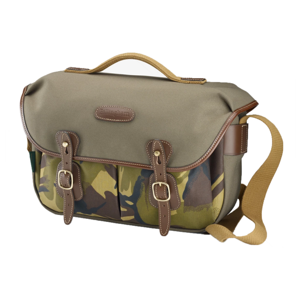 Billingham Hadley Pro Camera Bag in Sage FibreNyte with Camo Front / Chocolate Leather