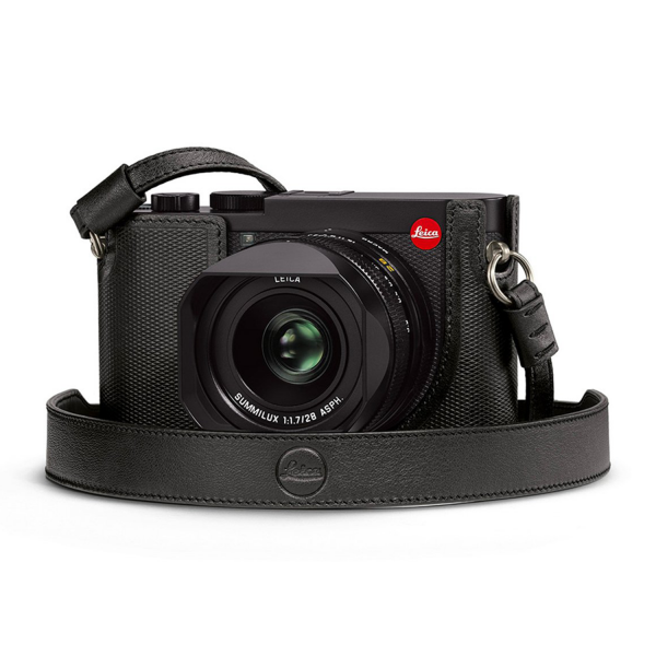Leica Q2 Carrying Strap in Black Leather