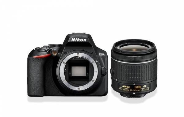 Nikon D5300 DSLR Camera with lens view