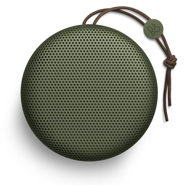 Beoplay A1 Portable Bluetooth Speaker Moss Green front view