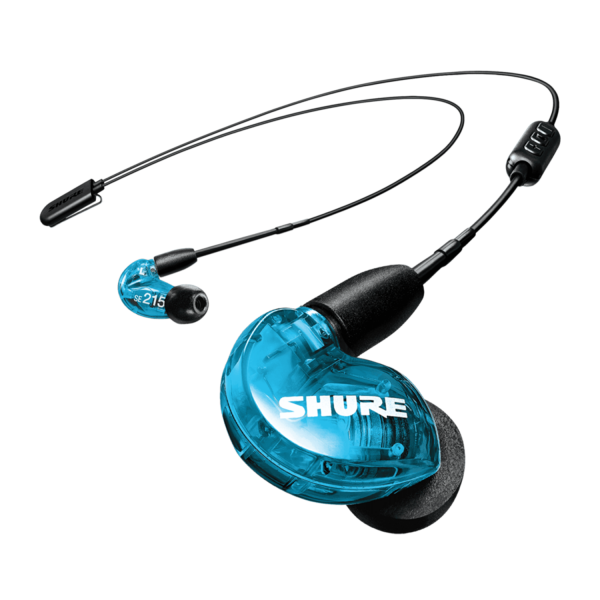 Shure SE215 Wireless Sound Isolating Earphones Blue Special Edition Bundle