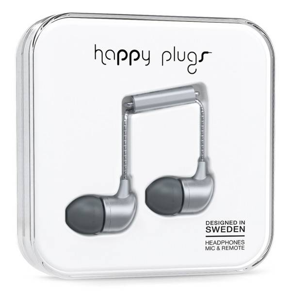 Happy Plugs In Ear Heaphones in Space Grey