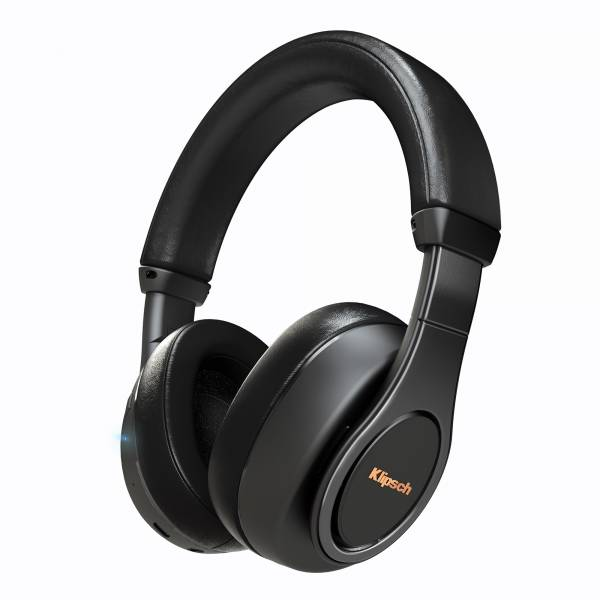 Klipsch Reference Bluetooth Over-Ear Headphones in Black front view