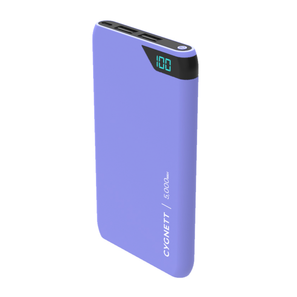 Cygnett ChargeUp Boost 5K USB Portable Power Bank in Lilac