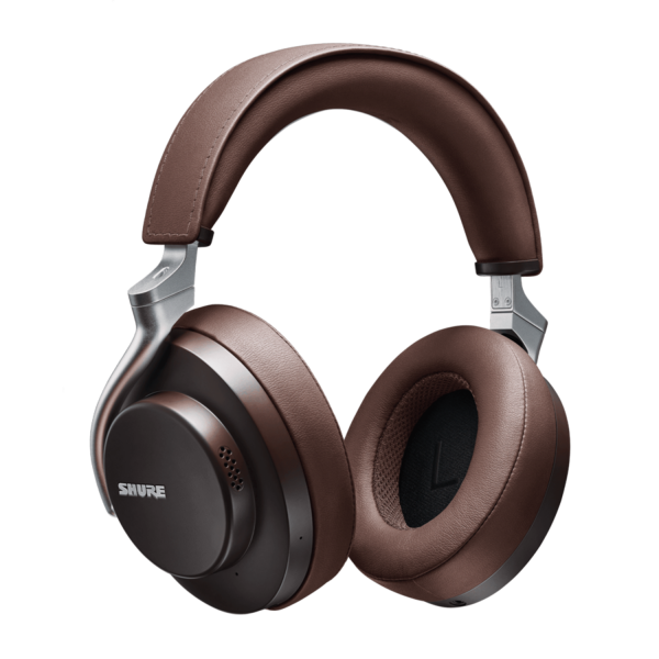 Shure AONIC 50 Wireless Noise Cancelling Headphones in Brown