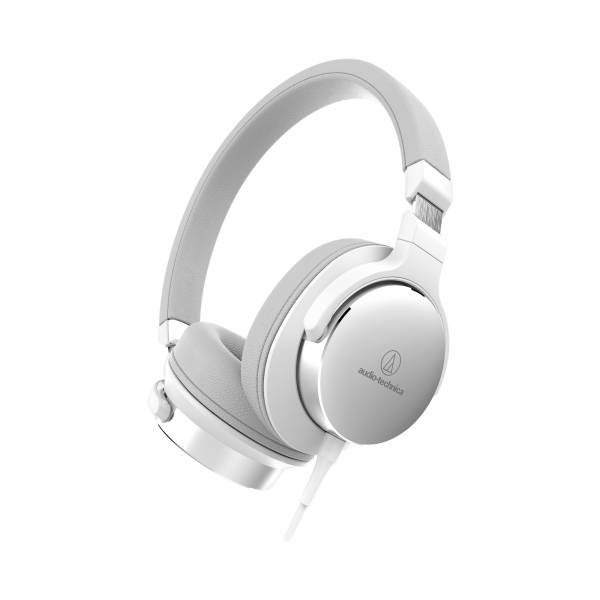 Audio-Technica ATH-SR5 High Resolution On-Ear Headphones, White