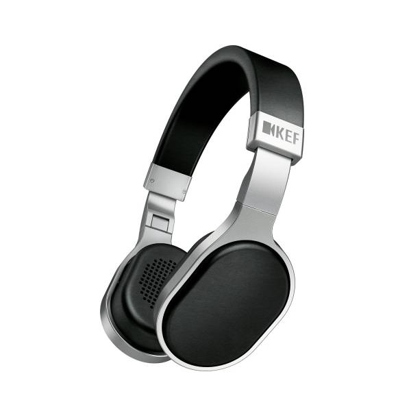 Kef M500 On-Ear Headphones,3-Button Rem+mic in Silver and Black