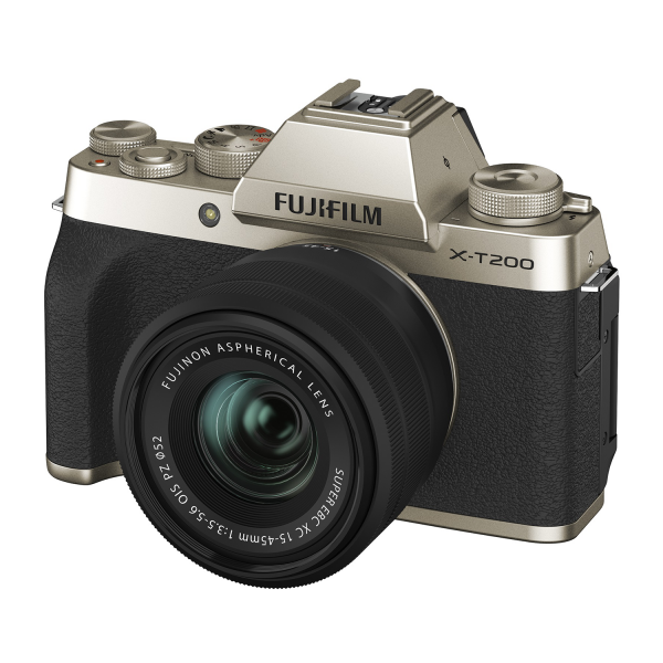 Fujifilm X-T200 Mirrorless Camera Kit in Champagne Gold