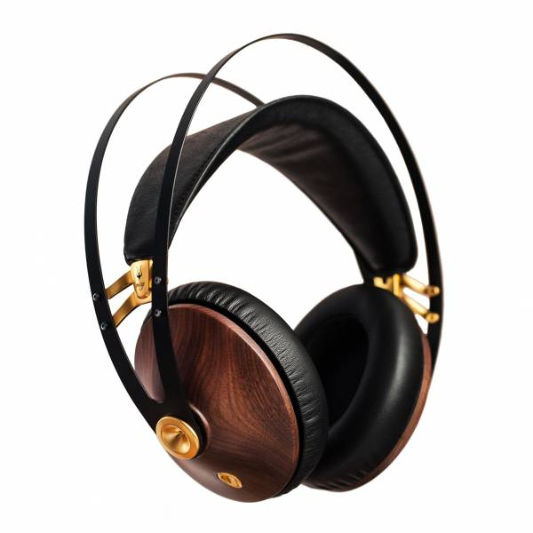 Meze 99 Classics Over-Ear Headphones in Walnut and Gold side view