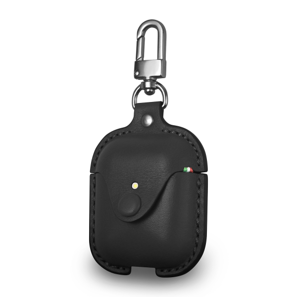 Cozistyle Leather Airpod Case in Carbon Black