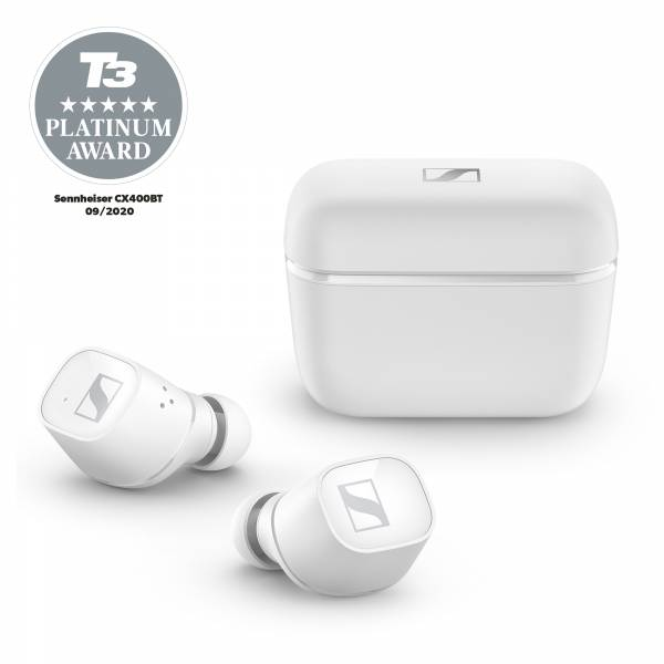Sennheiser CX 400BT True Wireless Earbuds in White