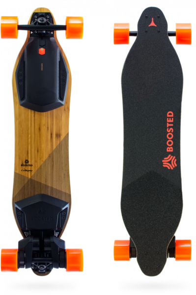 Boosted V2 Dual+ Electric Skateboard front and back view