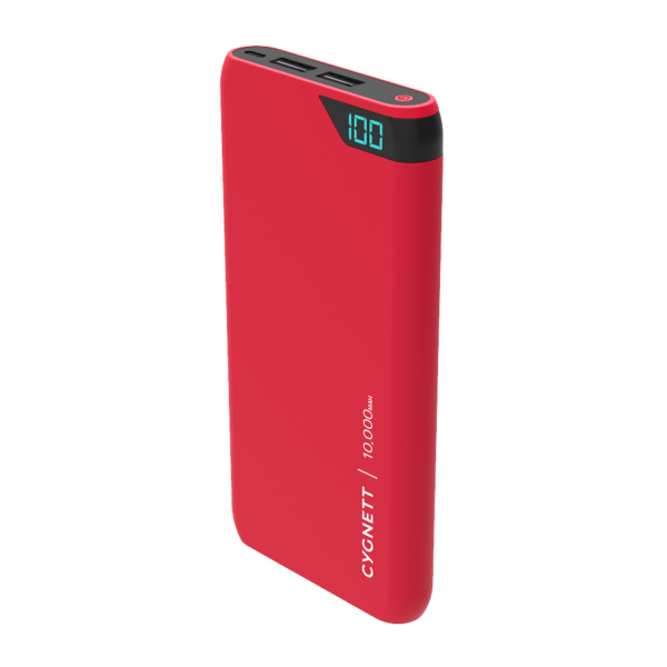 Cygnett ChargeUp Boost 10K Portable USB Power Bank in Red