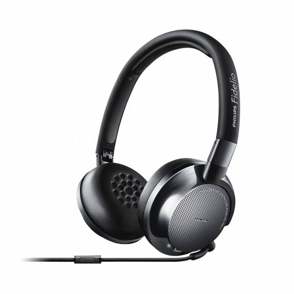 Philips Fidelio NC1/00 Noise-Cancelling Headphones in Black left side view