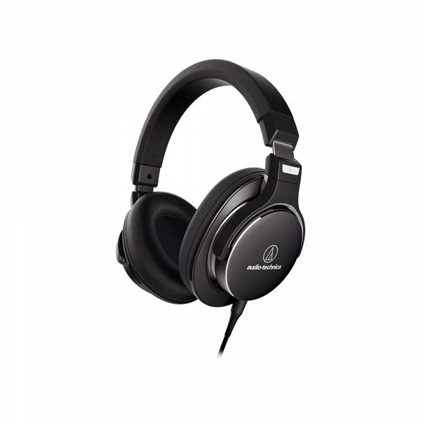Audio-Technica ATH-MSR7NC High-Resolution Over-Ear Headphones with Noise Cancellation in Black side tilted