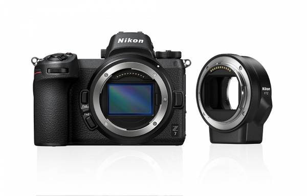 Nikon Z 7 Digital Camera Body with Mount Adapter Hero Image