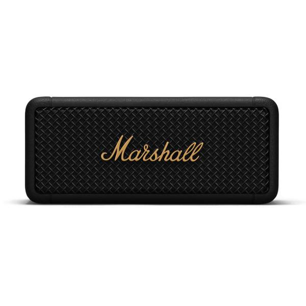 Marshall Emberton Portable Bluetooth Speaker in Black & Brass