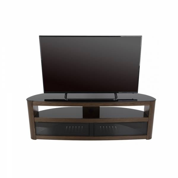 AVF Affinity FS1500 - Burghley Curved TV Stand in Walnut
