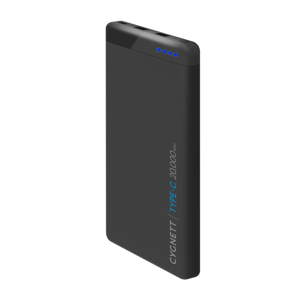 Cygnett ChargeUp Pro 20k USB-C Power Bank in Black
