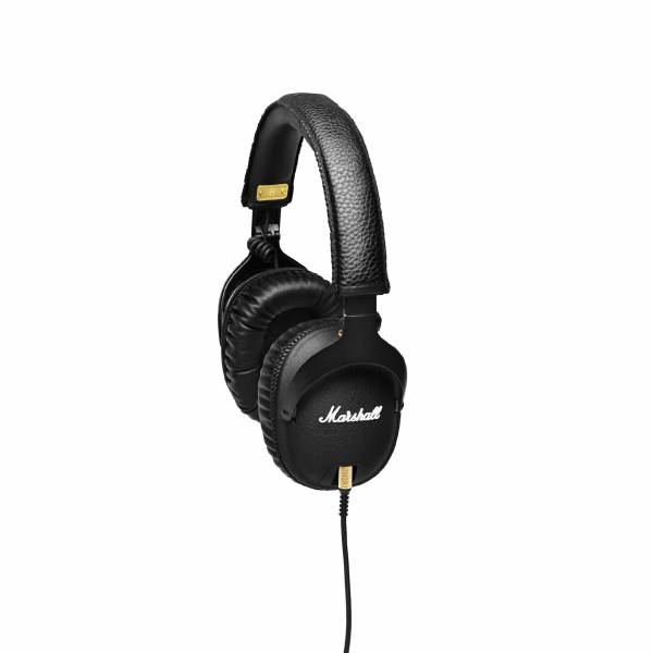 Marshall Monitor Over-Ear Headphones in Black let side view
